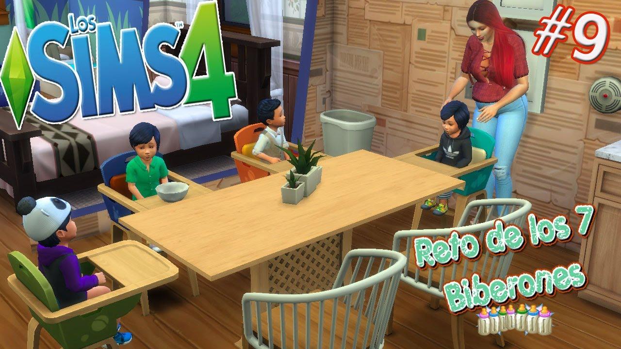 Los Sims 4 Reto 7 Biberones 9 Crecen Los Cuatrillizos Son Identicos A Juan Tenorio Youtube