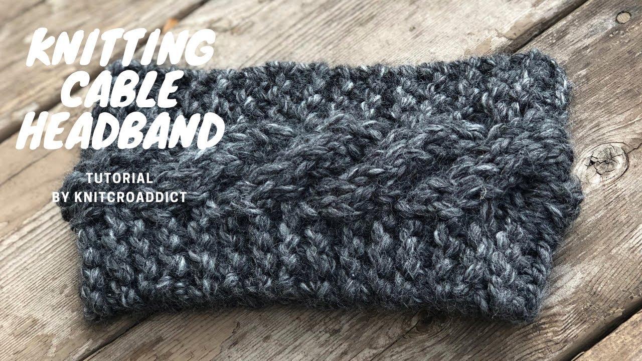 Cara Aran Cable Ear Warmer Wide Head Wrap Head Band Headband DK Yarn Knitting Pattern