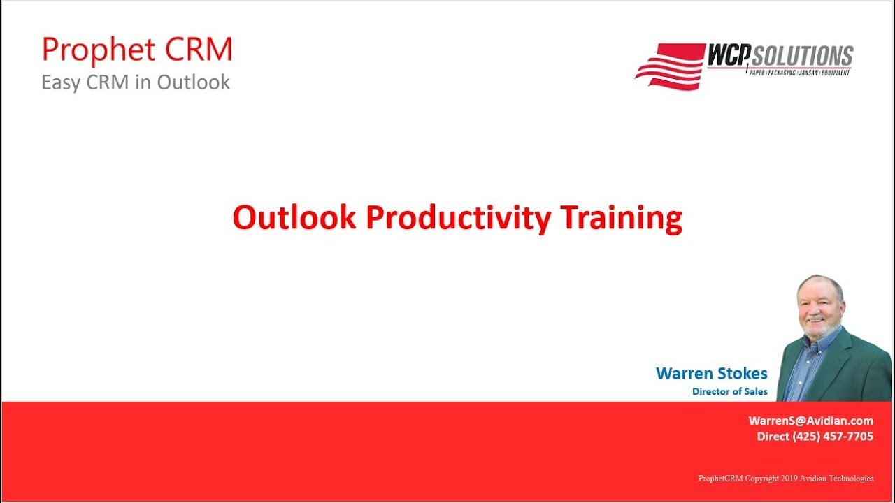 Outlook Productivity Training with WCP Solutions