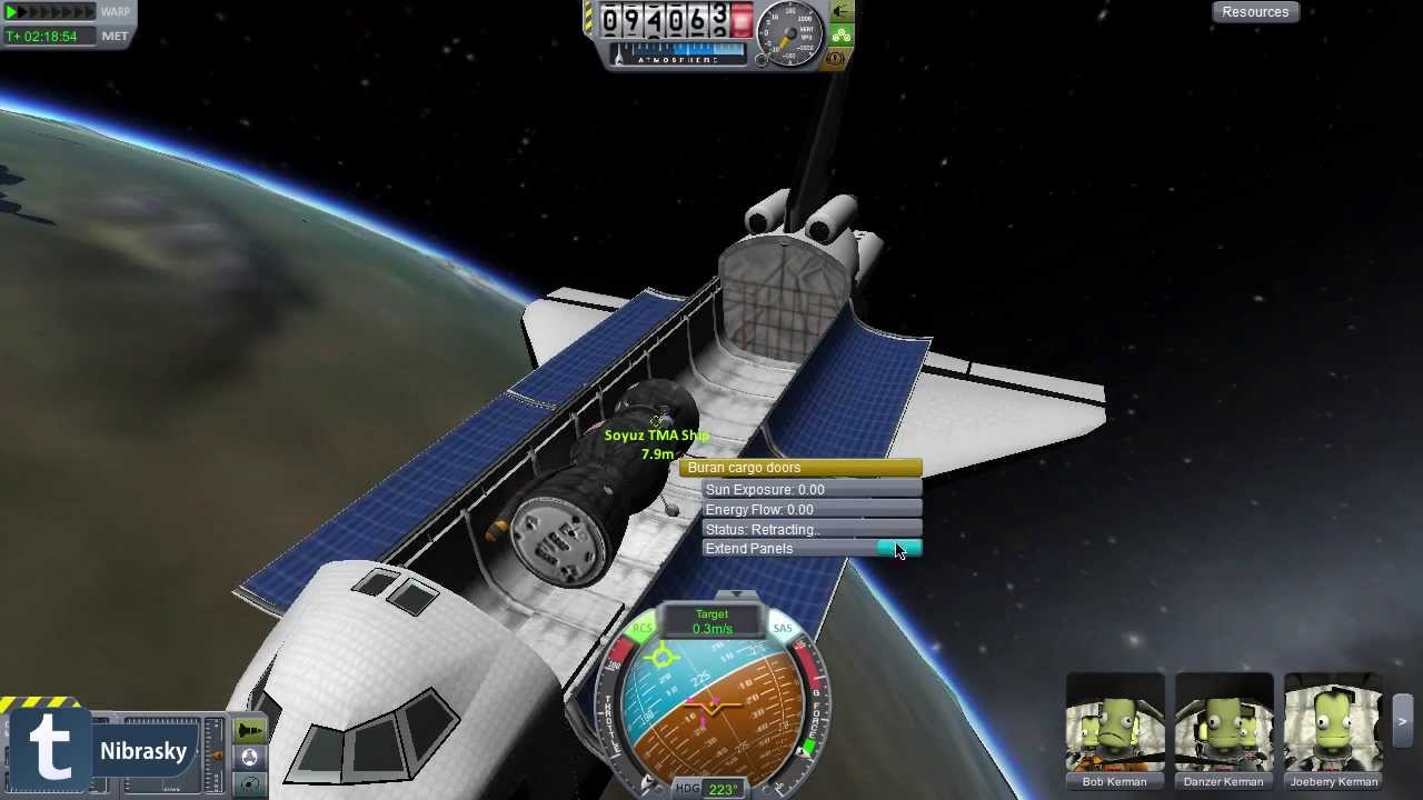 Kerbal Space Program rescue : using Buran Space Shuttle ...