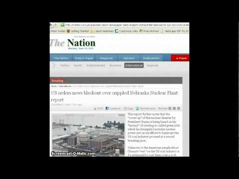 Nebraska Nuclear Plant Media Blackout