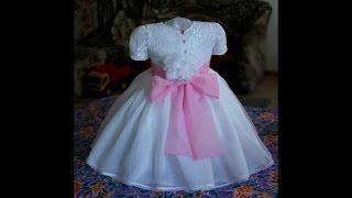 Платье для девочки. Как научиться шить с нуля(Платье для девочки очень КРАСИВОЕ и НАРЯДНОЕ. Понятный мастер-класс по шитью детского платья. Ещё больше..., 2015-08-29T08:56:45.000Z)