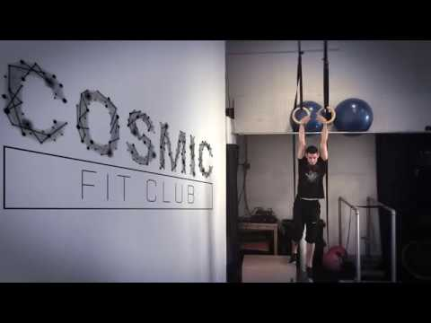 Cosmic Fit Club - Ring Muscle Ups and Peg Board!