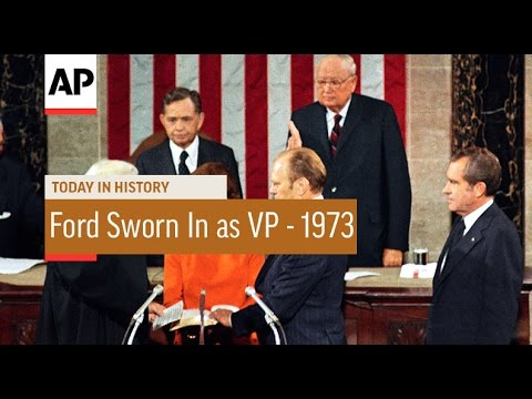 Gerald Ford Sworn In as Vice President - 1973   Today in History   6 Dec 16