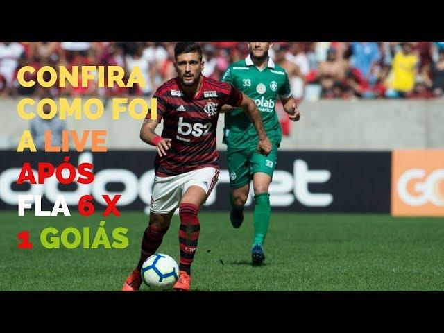 Flamengo de Jesus goleia o Goiás por 6 a 1. Veja como foi a live após o jogo