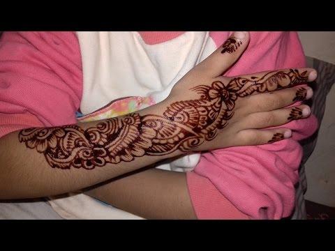 Mehndi Patterns For Little Girls : Mehndi designs on kids hand design for little girls youtube
