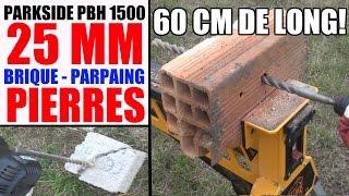 test perforateur burineur parkside pbh 1500 a1 foret 25 mm 60 cm