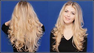 Как быстро завить волосы на плойку / Быстрая укладка волос