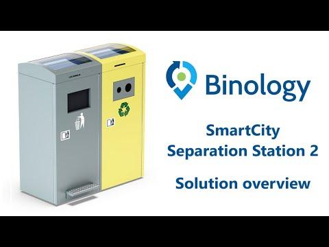 Binology Smart City Separation Station 2 | Waste managment WM | Smart city | Iot technology |