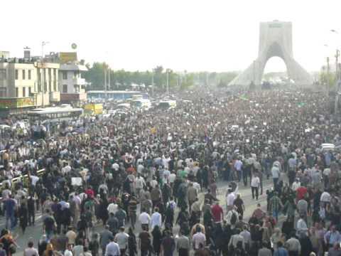Azadi Square, Tehran راهپیمایی اعتراض به نتایج انتخابات