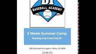 2018 D1 Baseball Summer Camp PROMO