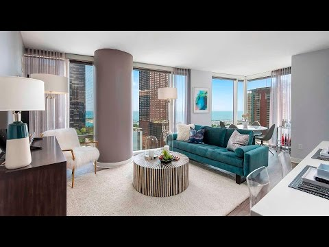 Tour a corner 2-bedroom, 2-bath at Streeterville