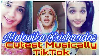 Malavika Krishnadas Latest Cute Dubsmash TikTok Musically | Nayika nayakan Malavika Krishnadas