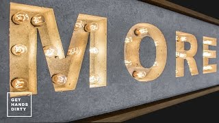 How to Make a Concrete and Light Sign