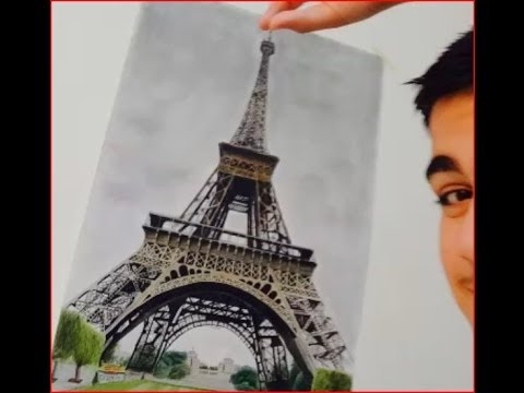 Draw The Eiffel Tower Step By Step | Drawing/Art | Pinterest