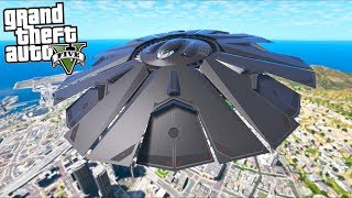 Play as an Alien UFO Escape Mod!! (GTA 5 Mods - Evade Gameplay)