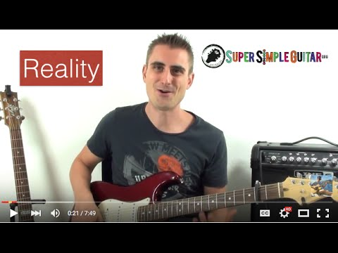 Lost Frequencies feat. Janieck Devy - Reality guitar lesson - Tutorial - how to play