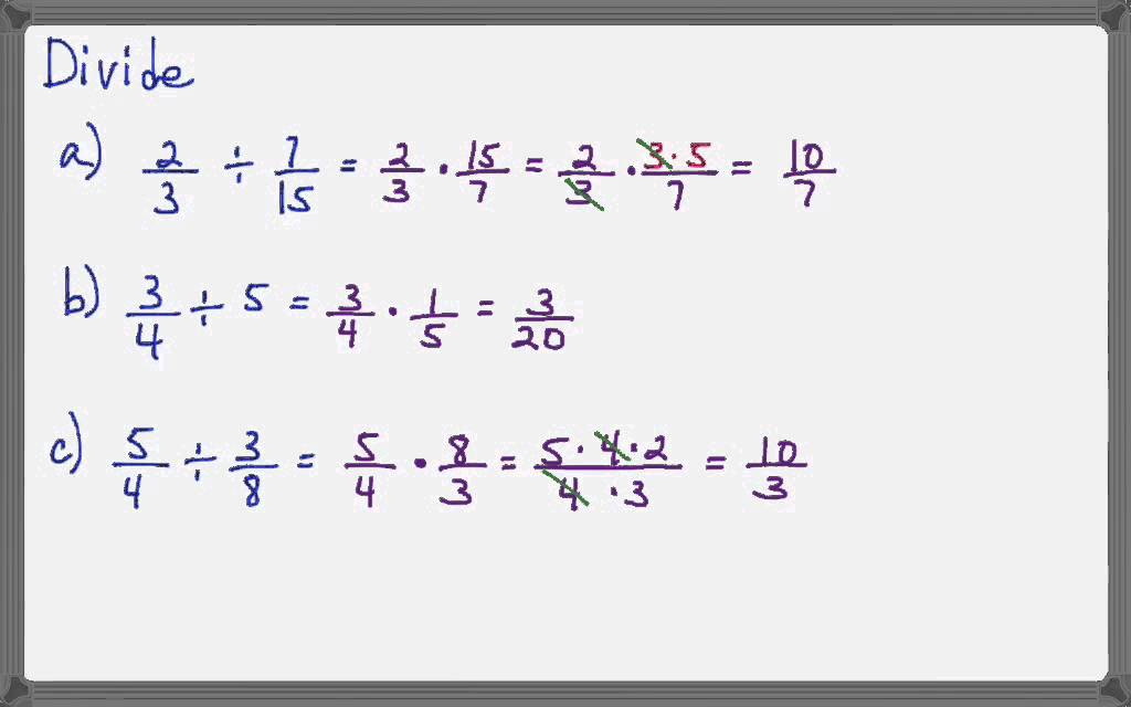 simplest form dividing fractions  Dividing fractions