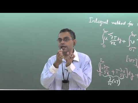 Lecture 30: Integral Method for Thermal Boundary Layer Analysis