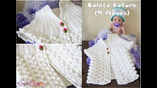 Colete Fofura (9 Meses) em Crochê – Versão Destras