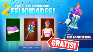 THESE ARE THE FREE REWARDS OF THE FORTNITE 2nd BIRTHDAY EVENT!! ✅🎁