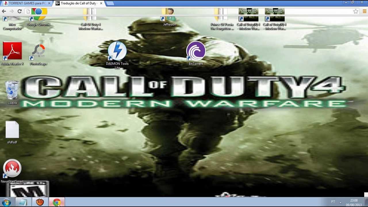 Como baixar e instalar call of duty 4 modern warfare [pc] completo.