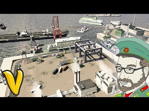 MASSIVE PORT DISTRICT!! Cities: Skylines Building Vladistan #21