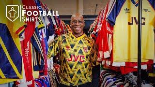 My Classic Football Shirts Warehouse Tour | Ian Wright