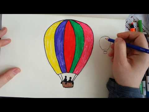 Ucan Balon Cizimi How To Drawing Flying Balloon Youtube
