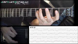 [ DISTURBED - Indestructible ] How to play part 2/2 [ free guitar lesson ] with tabs