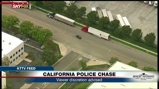 WHAT JUST HAPPENED: Did CA police chase suspect make car switch? (FNN)