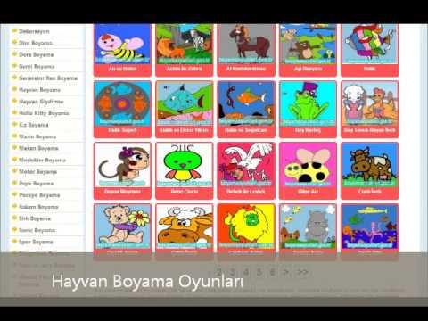 Hayvan Boyama Oyunları Wwwboyamaoyunlarigentr Youtube