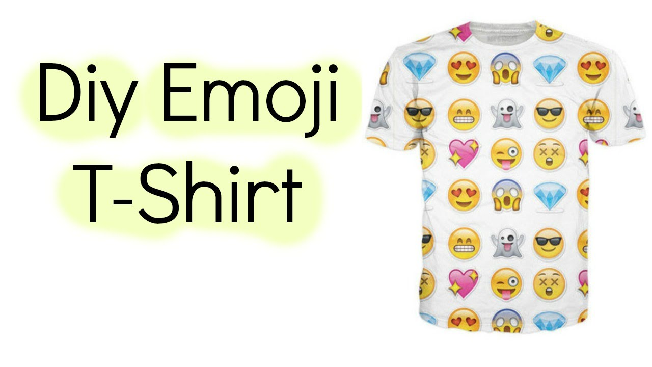 Diy emoji t shirt d youtube diy emoji t shirt d solutioingenieria Gallery