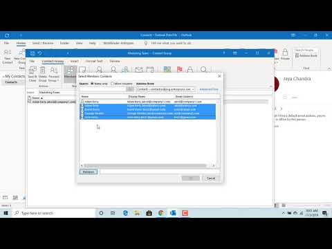 How to Create Contact Groups in Outlook - Office 365