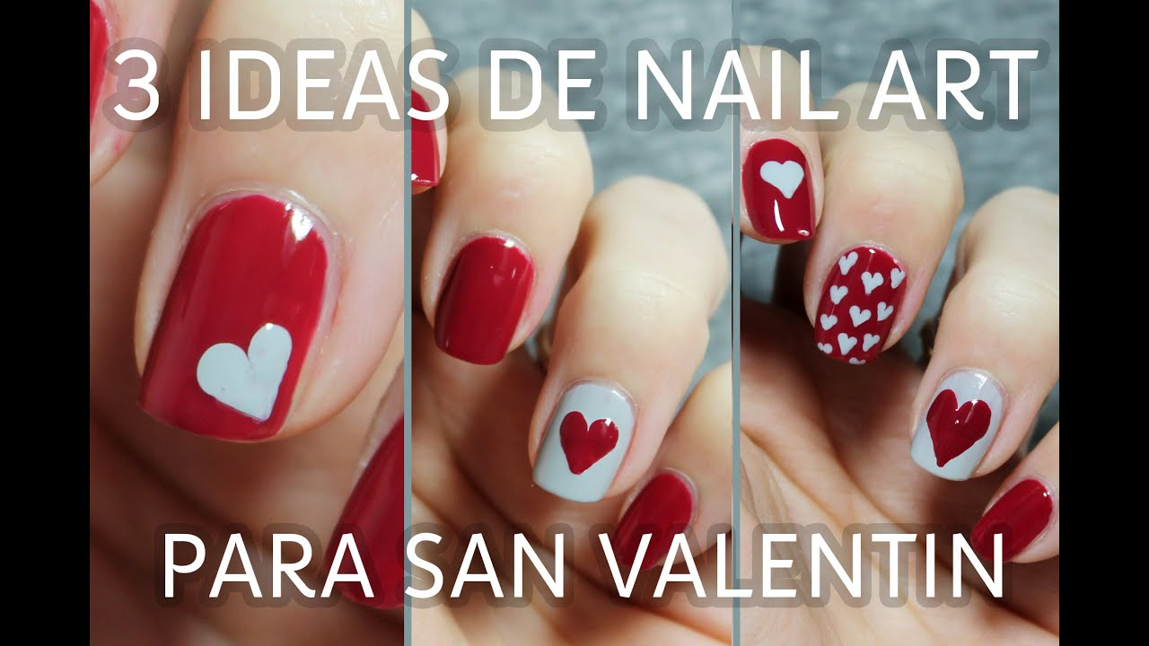3 ideas para decorar tus u as de san valent n en menos de - Ideas para sanvalentin ...