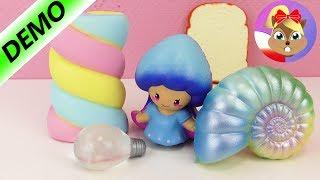 5 SZALONYCH SQUISHY TOYS | marshmallow, żarówka, grzanka, ślimak + grzybek | zabawki Slow Rising