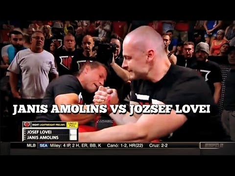 JANIS AMOLINS VS JOZSEF LOVEI WAL 2016 -WORLD ARMWRESTLING LEAGUE