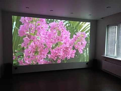 Домашний кинотеатр. Диагональ 418см..проектор Epson