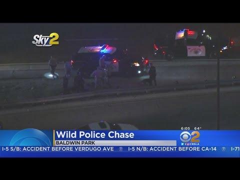 2 Arrested In Wild Baldwin Park Chase, Search That Shut Down 2 Freeways