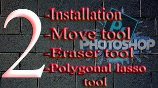 Photoshop move tool, eraser tool & polygonal lasso tool-part 2 [NEPALI]