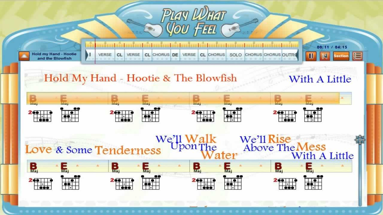 Hold my hand hootie the blowfish guitaraoke chords lyrics hold my hand hootie the blowfish guitaraoke chords lyrics lesson 2 playwhatyoufeel hexwebz Choice Image