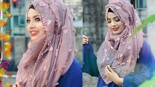 How to wear short hijab with covering chest ♥