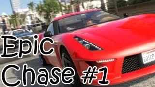 gta 5 epic 4 star wanted level police chase grand theft auto 5 gameplay