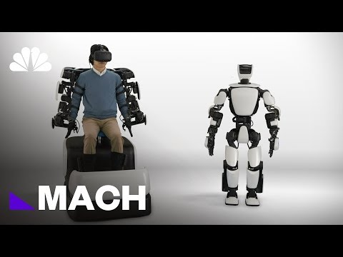 This Humanoid Robot Can Mimic Human Movement In Real Time | Mach | NBC News