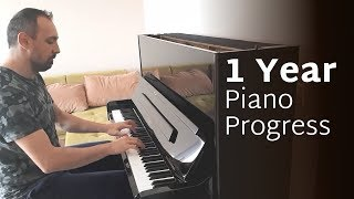 Adult Piano Progress  - 1 Year of Practice