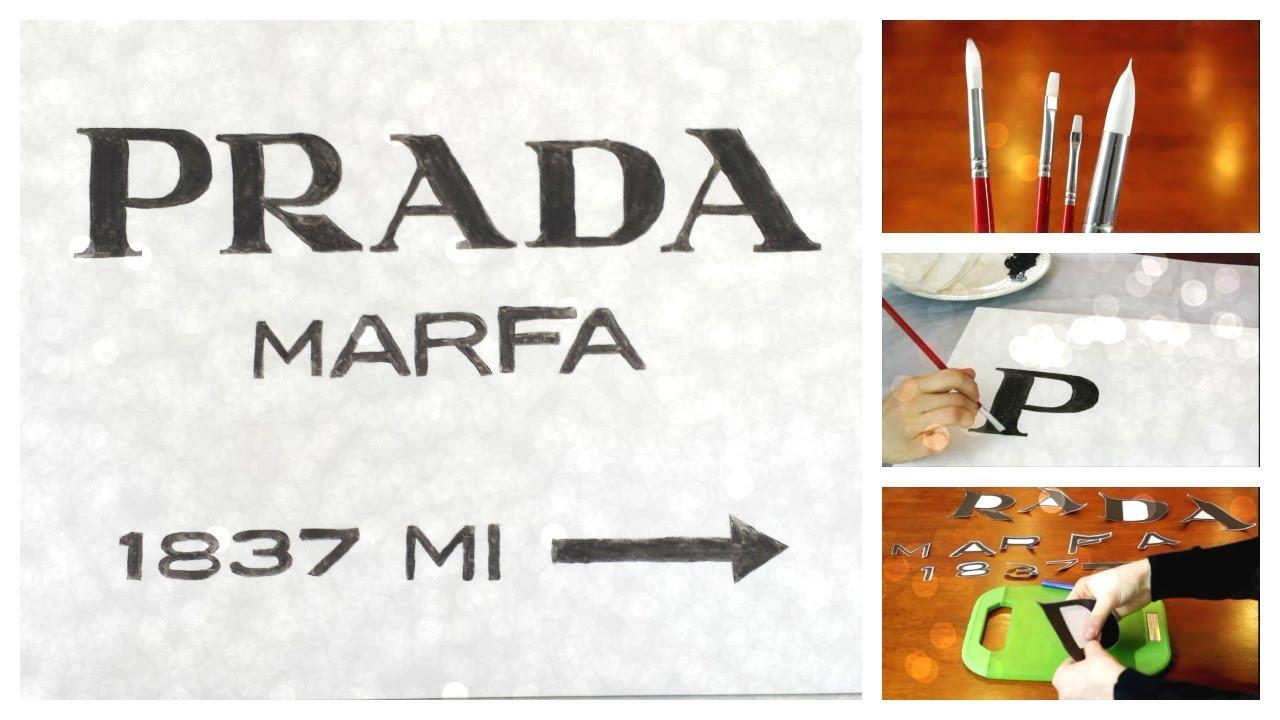 Top DIY Prada Marfa Sign - YouTube HY91