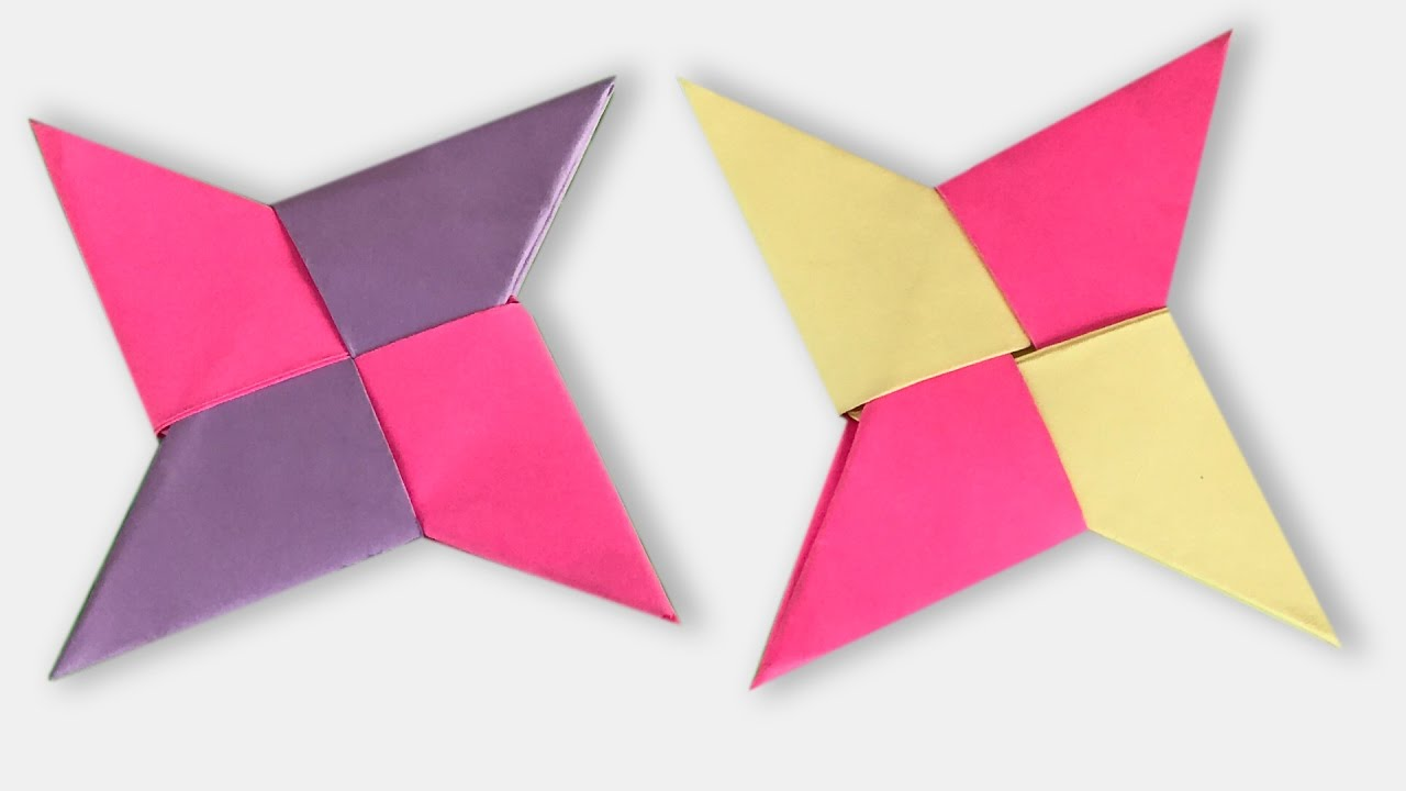 how to make an origami ninja star shuriken step by step