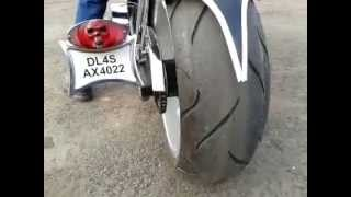 Bike Modification India - Rockstar Chopper (Harley) Rockstar academy chandigarh india.mp4
