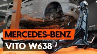Så byter du främre länkarm / främre bärarm på MERCEDES-BENZ VITO 1 (W638) [AUTODOC-LEKTION]