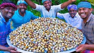 Download 5000 TINY EGGS | 5k Quail Eggs Cooking in Village | Spicy Recipe With Traditional Hand Ground Masala